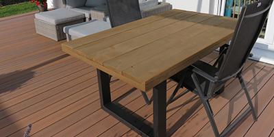 Neues Gerüstholz, dunkelbraun, 160x100 cm