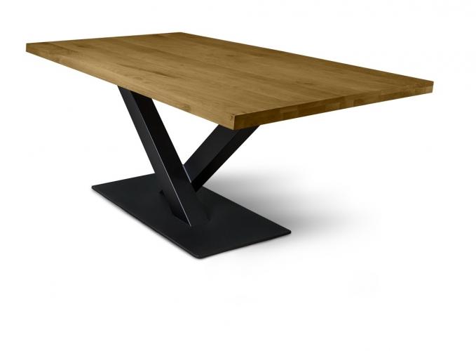 Table Factory | Aufgedickte Eiche mit gerader Kante, Esstisch | online kaufen